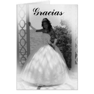 formal black and white, Gracias Card