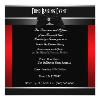"""Formal Black Tie Charity Invitation 5.25"""" Square Invitation Card"""