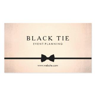 Formal Black Tie Event Planner Gold (no shine) Pack Of Standard Business Cards