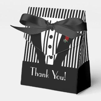 Formal Black Tuxedo Thank You Favour Box