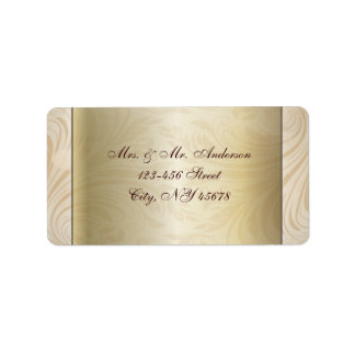 Formal champagne gold Wedding Address Labels