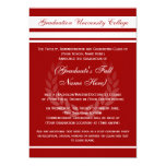 Formal College Graduation Announcements (Red)