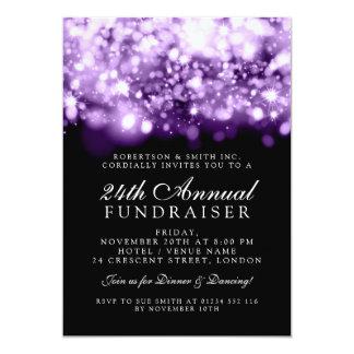 Formal Corporate Gala Purple Sparkling Lights Card