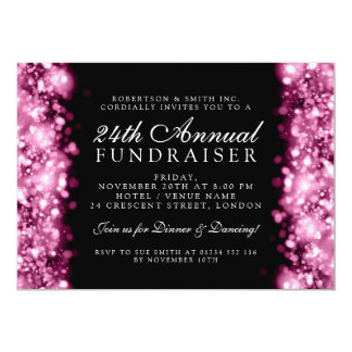 Formal Corporate Party Fundraiser Gala Pink Card