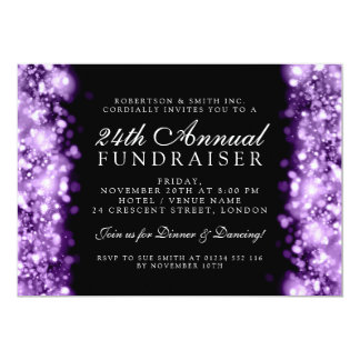 Formal Corporate Party Fundraiser Gala Purple Card