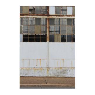 Formal Derelict Factory Exterior Acrylic Print