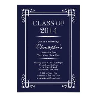 Formal Elegant Class of 2014 Graduation Party 13 Cm X 18 Cm Invitation Card