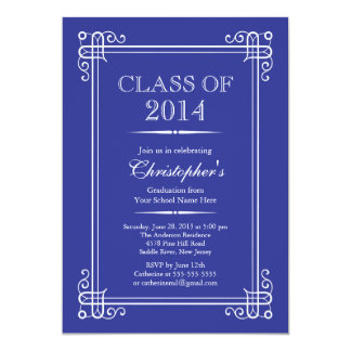 Formal Elegant Class of 2014 Graduation Party Announcements
