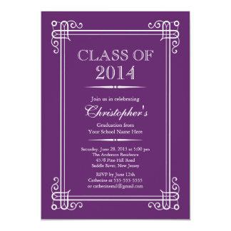 Formal Elegant Class of 2014 Graduation Party 5x7 Paper Invitation Card