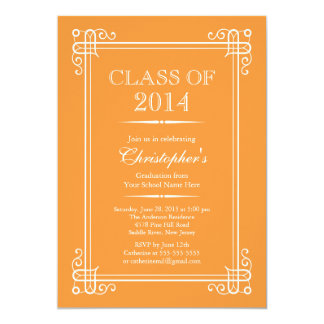 Formal Elegant Class of 2014 Graduation Party Custom Announcements