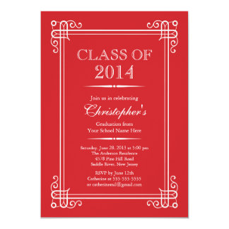 Formal Elegant Class of 2014 Graduation Party Cards