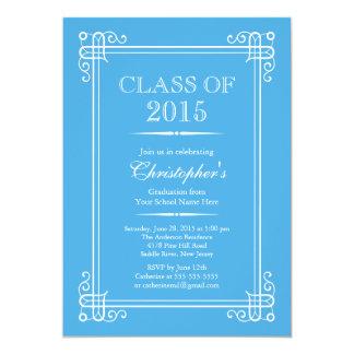 Formal Elegant Class of 2015 Graduation Party 13 Cm X 18 Cm Invitation Card