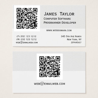 Formal Elegant Computer Programmer | Professional Business Card