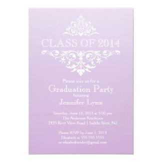 Formal Elegant Flourish Graduation Party 13 Cm X 18 Cm Invitation Card