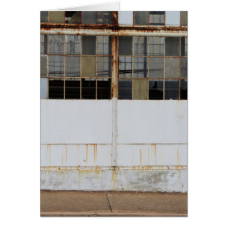 Formal Exterior View of Derelict Factory Card