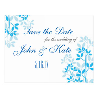 Formal Floral Save the Date Announcement Postcard