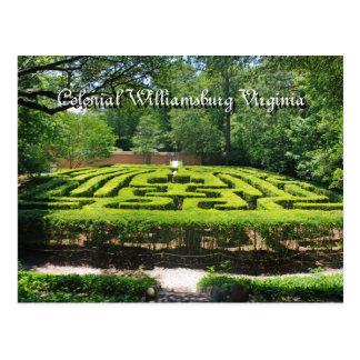 Formal Gardens Williamsburg VA Postcard