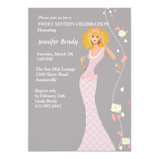 Formal Gown Teen Invitation