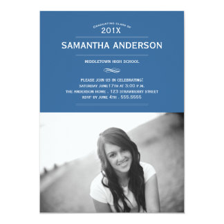 Formal Graduation Invitation Announcement - Blue