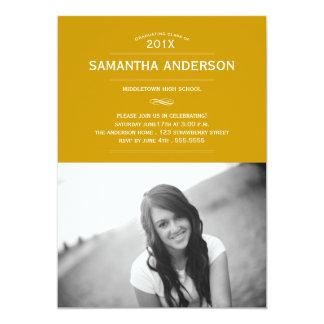 Formal Graduation Invitation Announcement - Gold