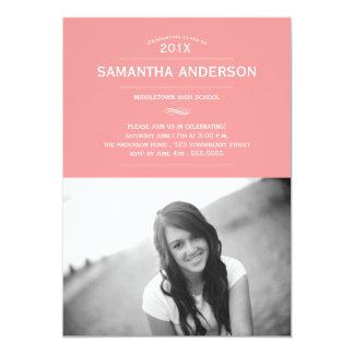 Formal Graduation Invitation Announcement - Pink