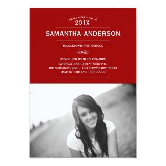 Formal Graduation Invitation Announcement - Red