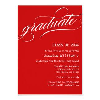 Formal Graduation Party 13 Cm X 18 Cm Invitation Card