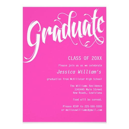 Formal Graduation Party Invitation