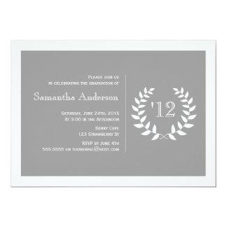 Formal Laurel Graduation Invitation - Grey