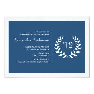 Formal Laurel Graduation Invitation - Navy