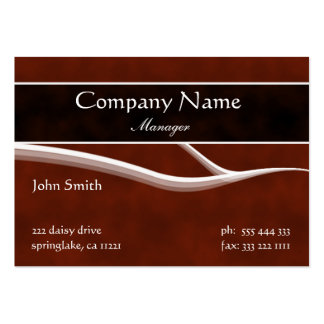 Formal Maroon Business Card