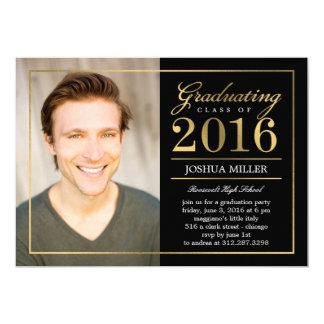 Formal Modern Editable Color Graduation Invitation