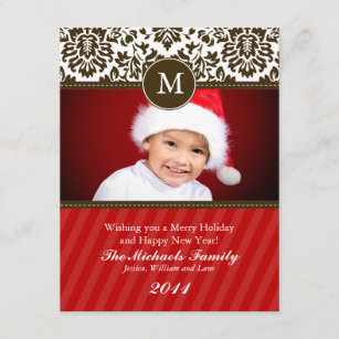 Formal christmas cards zazzle au formal monogram christmas card m4hsunfo