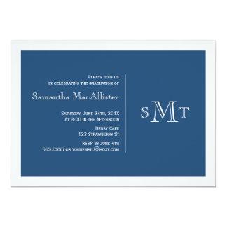 Formal Monogram Graduation Invitation - Navy
