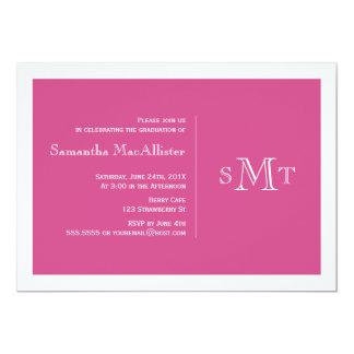 Formal Monogram Graduation Invitation - Pink