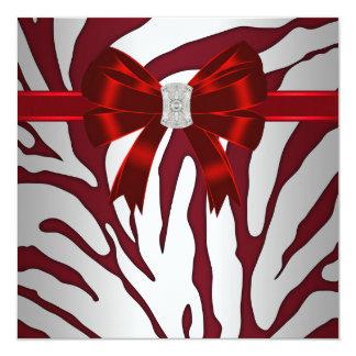 Formal Red Zebra Invitation