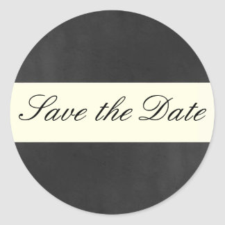 Formal Save the Date Sticker/Seal Round Sticker