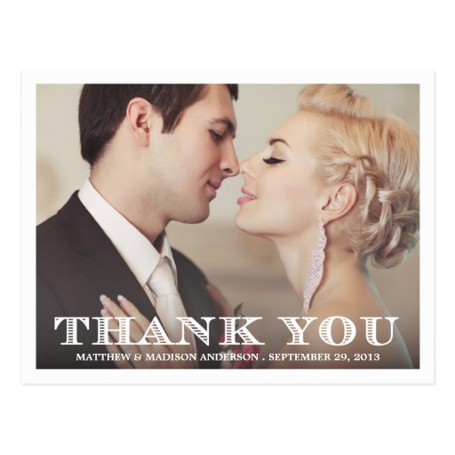 FORMAL THANK YOU | WEDDING THANK YOU POST CARD