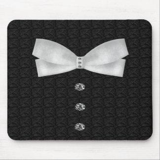 Formal Tuxedo Rhinestone Bow tie  Wedding Mouse Pads