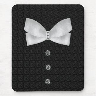 Formal Tuxedo Rhinestone Bow tie  Wedding Mouse Pad