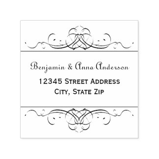 Formal Vintage Flourish -Self Inking Address Stamp