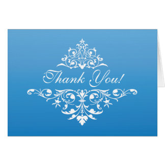 Formal Vintage Graduation Thank You Note Card