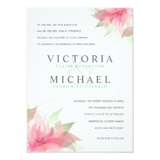 Formal Wedding Invitations Stargazer Pink & White