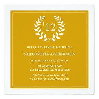 Formal Wreath Year Graduation Invitation - Gold