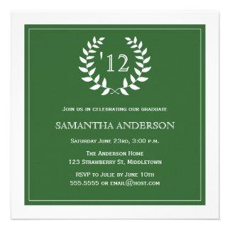 Formal Wreath Year Graduation Invitation - Gren