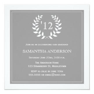 Formal Wreath Year Graduation Invitation - Grey