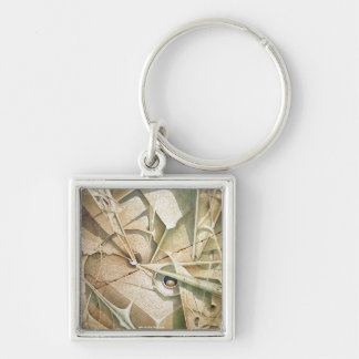 Formas en Ascenso Silver-Colored Square Key Ring