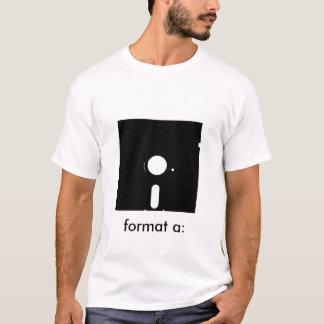 format a: T-Shirt