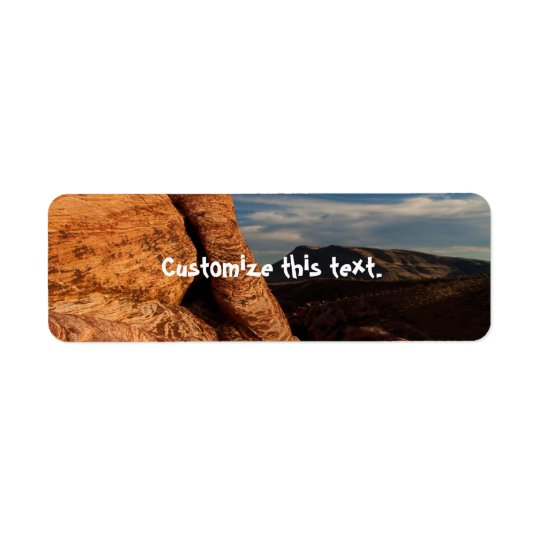 Formations in Red Rock Return Address Label