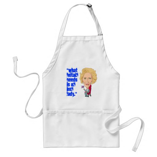 Former British Prime Minister Iron Lady THATCHER Aprons